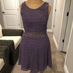 Free People Dark dusty purple dress
